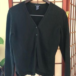 Gap Black Button down cardigan